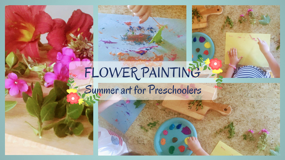 flower painting heading